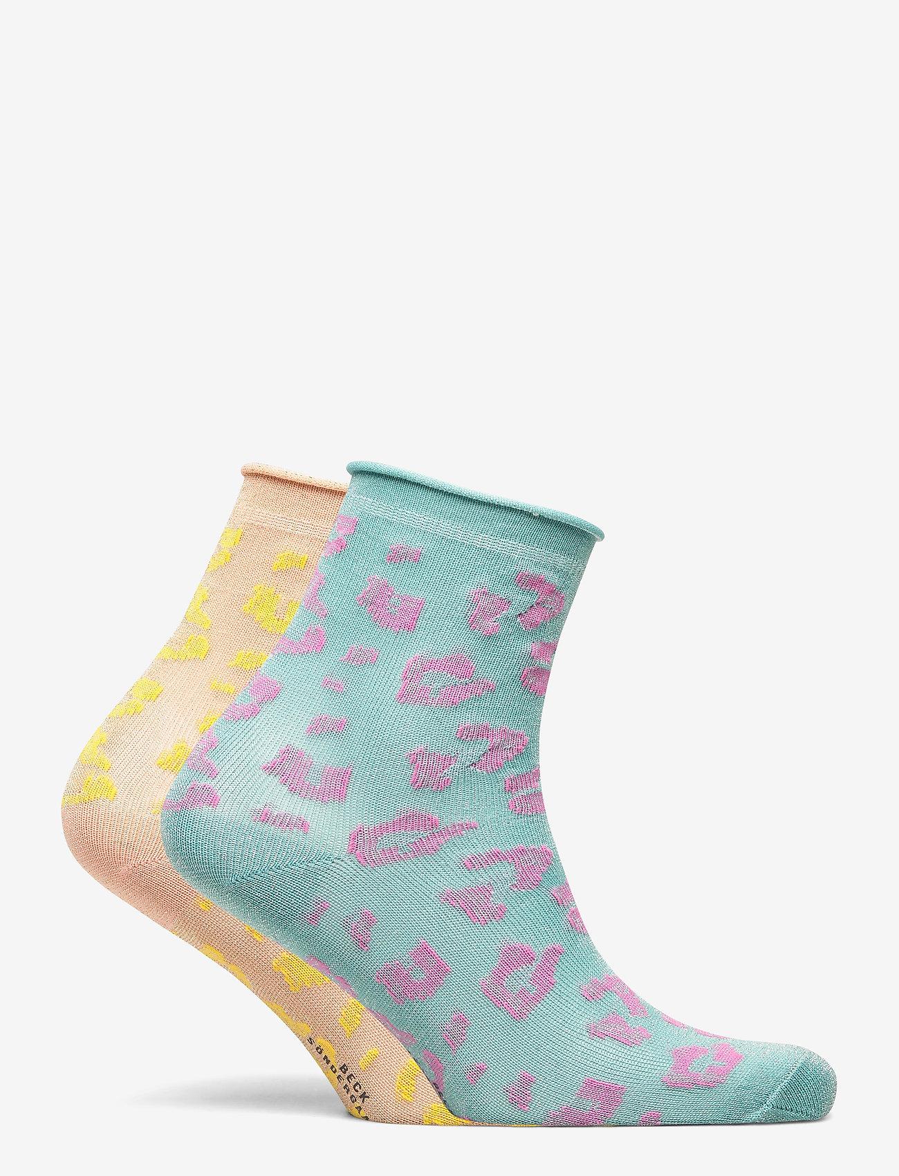 Becksöndergaard - Mix Sock Pack W. 17 - sokker - clay/blue - 1