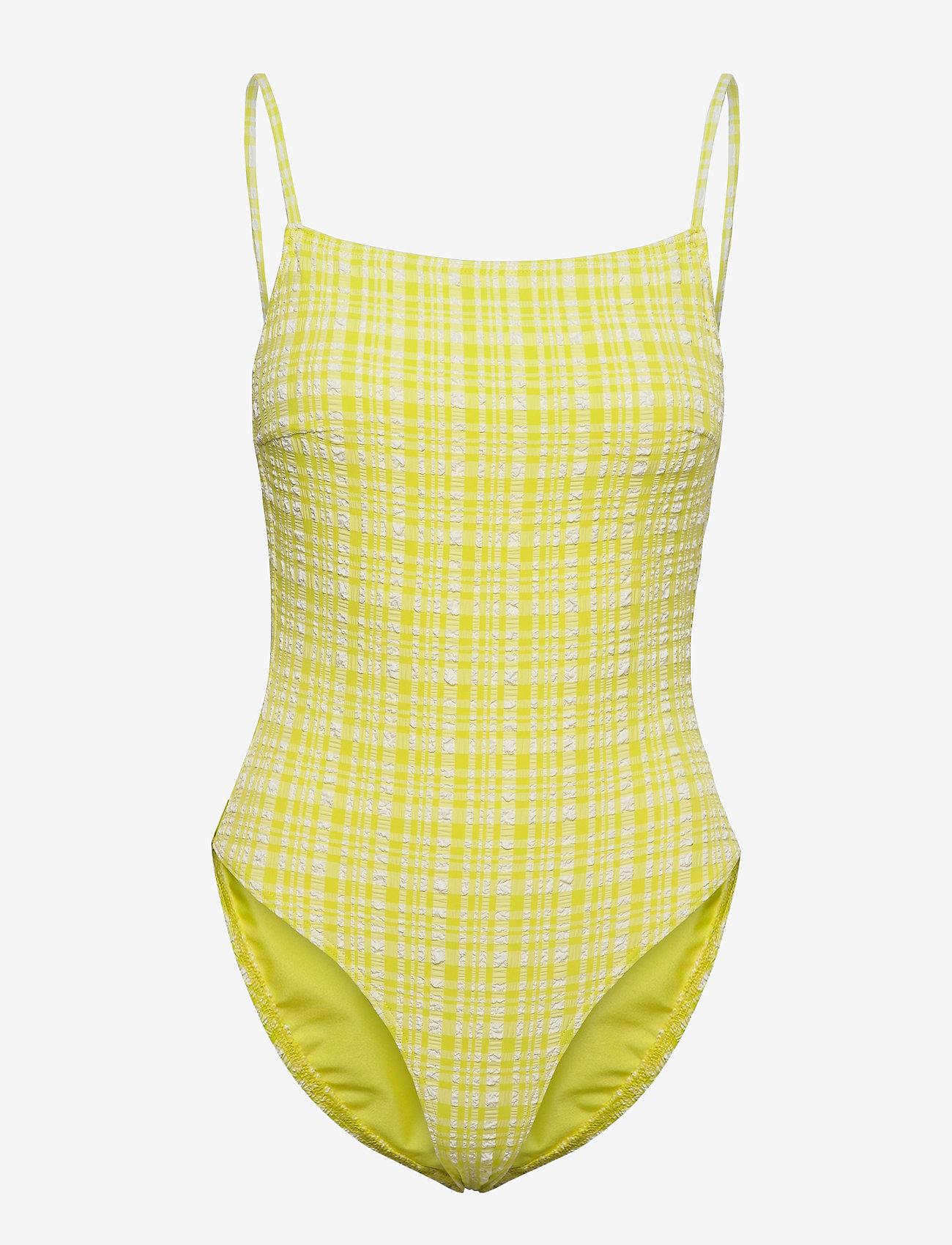 Becksöndergaard - Eli Swimsuit - badedrakter - yellow - 0