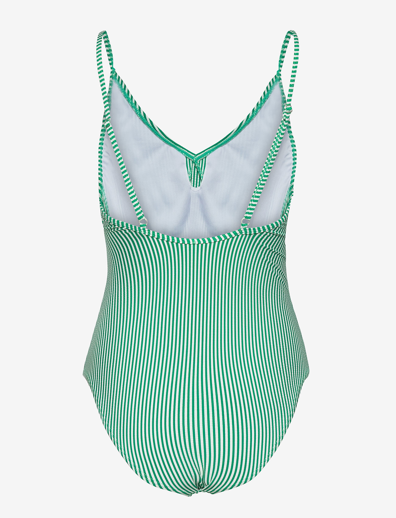 Becksöndergaard - Striba Frill Swimsuit - badedrakter - golf green - 1