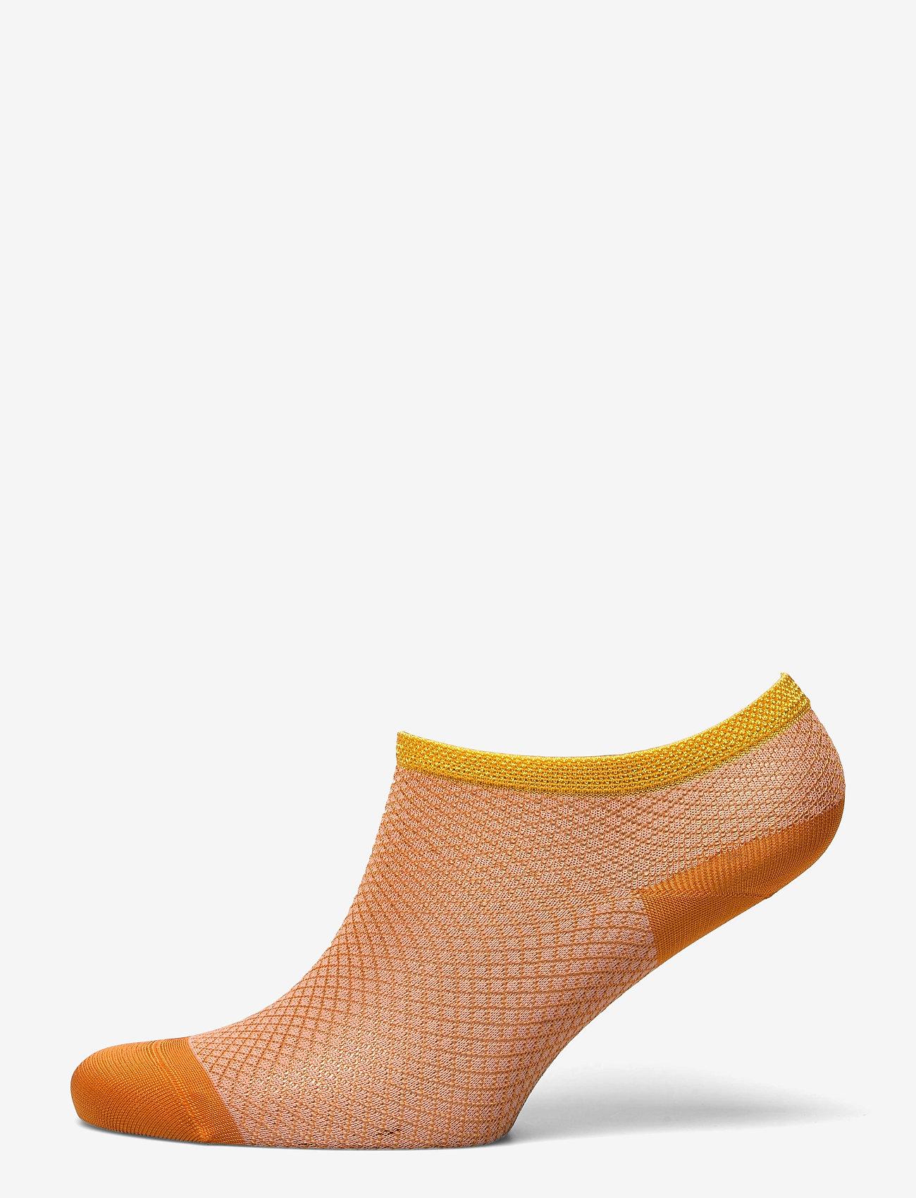 Becksöndergaard - Dollie Harlequin Sock - steps & footies - russet orange - 0