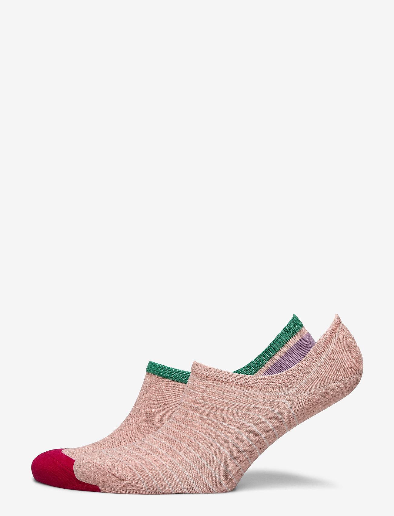 Becksöndergaard - Mix Sock Pack W.10 - steps & footies - dustypink/dusty - 0