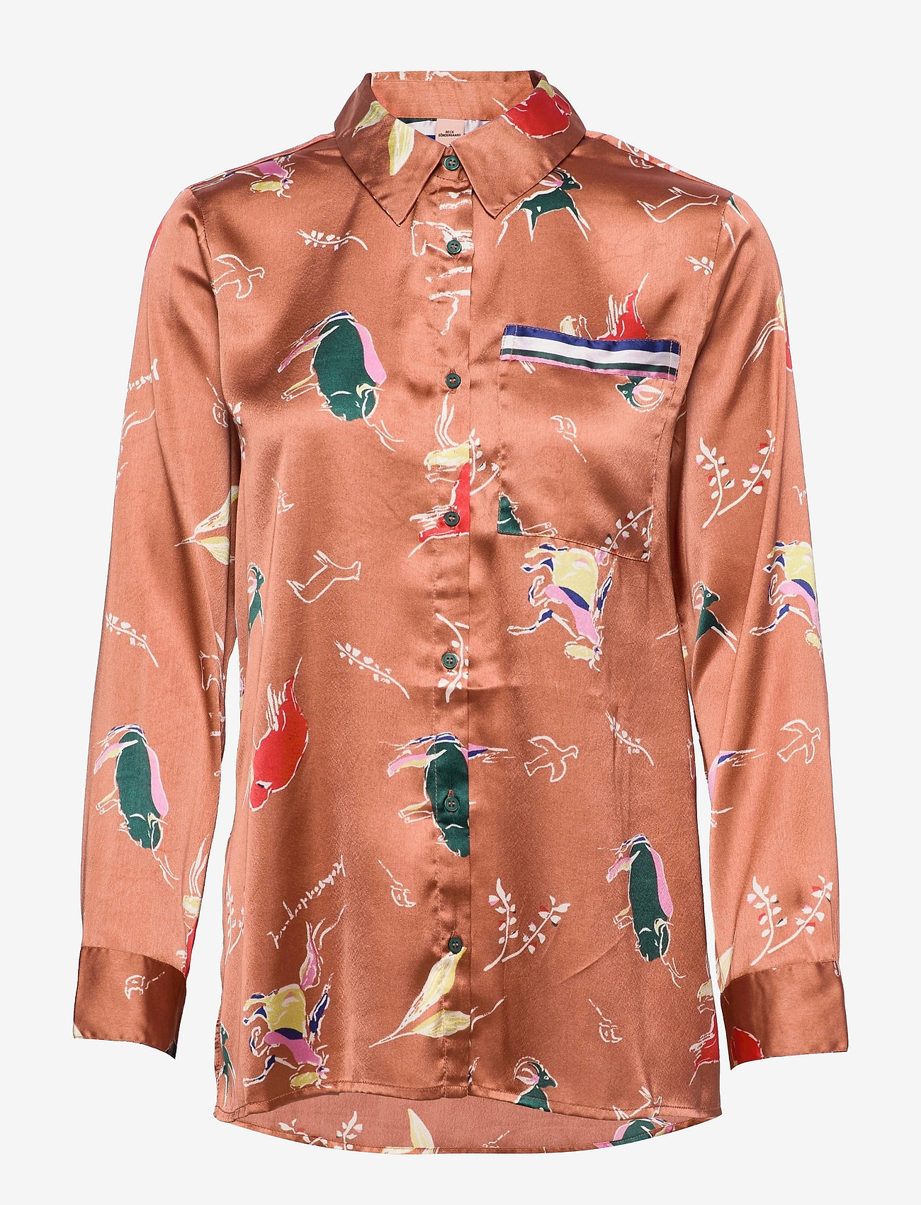 Becksöndergaard - Chumana Amara Shirt - langermede skjorter - pecan brown - 1