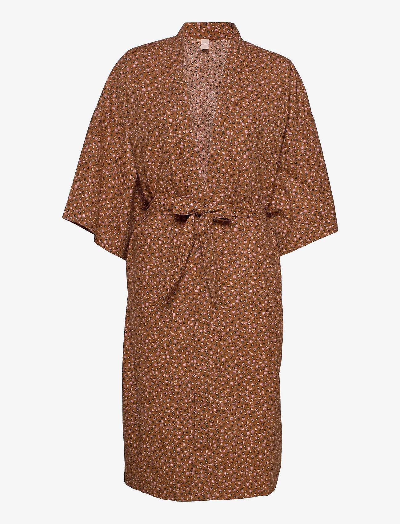 Becksöndergaard - Aiyana Liberte Kimono - undertøy - pecan brown - 0
