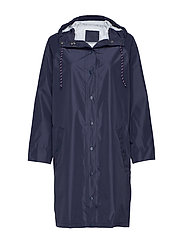Solid Magpie Raincoat - NAVY BLUE