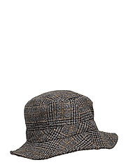 Check Hat - BLACK