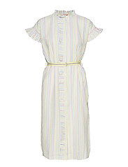 Striped Casey Long Frill - YELLOW