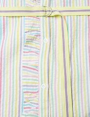 Becksöndergaard - Striped Casey Long Frill - midi kjoler - yellow - 4