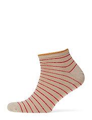 Dollie Stripe Sock - RED LOVE