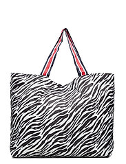 Zebra Foldable Bag - BLACK