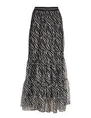 Zebra Nynne Skirt - BLACK