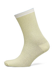 Dana Herringbone Frill Sock - YELLOW