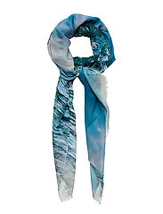 Mountains Scarf - BLUE