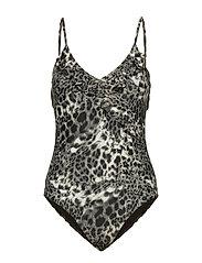 Leana Frill Swimsuit - CLOUD DANCER