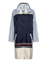 Blockie Magpie Raincoat - BLUE