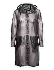 Transparent Magpie Raincoat - GREY