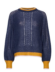 Solid Gracinia Sweater - NIGHT SKY
