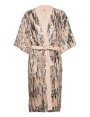 Glitrio Kimono Dress - BEIGE