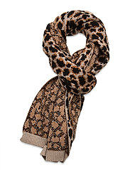 Leoporo Knit Scarf - BROWNISH