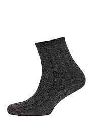 Glitter Drake Sock - BLACK
