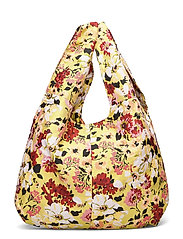 Jacquard Shopper Tote - YELLOW
