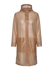Transparent Magpie Raincoat - MUTED CLAY