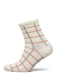 Square Rainbird Sock - CLOUD DANCER