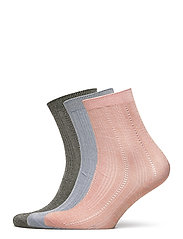 Mix Sock Pack W. 10 - ARMY/BLUE/VIOLETICE