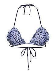 Damita Frill Bikini Top - FOREVER BLUE
