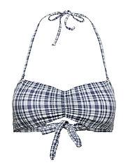 Eli Bandeau Bikini Top - BLUE SHADOW