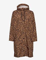 Becksöndergaard - Animal Magpie Raincoat - regnjakker - chocolate brown - 1