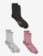 Becksöndergaard - Dina Solid Mix 3 - sokker - black/grey/mauve - 0