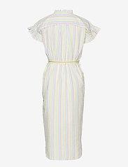 Becksöndergaard - Striped Casey Long Frill - midi kjoler - yellow - 2