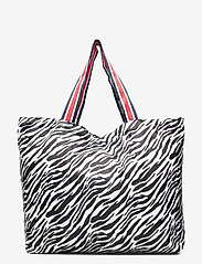 Becksöndergaard - Zebra Foldable Bag - shoppere - black - 1