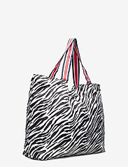 Becksöndergaard - Zebra Foldable Bag - shoppere - black - 2