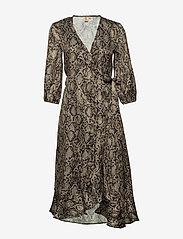 Becksöndergaard - Snakey Alva Dress - omslagskjoler - grey - 0