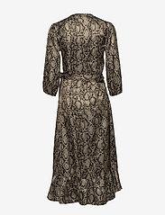 Becksöndergaard - Snakey Alva Dress - omslagskjoler - grey - 1