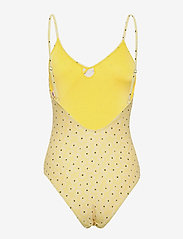 Becksöndergaard - Prinia Frill Swimsuit - uimapuvut - pastel yellow - 1