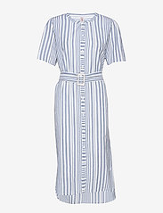 Becksöndergaard - Striped Casey Long - midi kjoler - dusty blue - 0