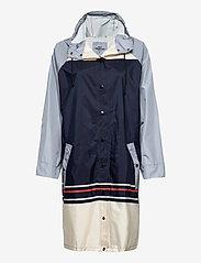Becksöndergaard - Blockie Magpie Raincoat - sadevaatteet - blue - 1
