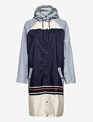 Becksöndergaard - Blockie Magpie Raincoat - sadevaatteet - blue - 2