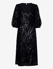Becksöndergaard - Glitrio Holiday Dress - paljettkjoler - black - 0