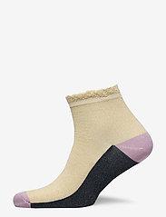 Becksöndergaard - Blocka Glam Sock - ankle socks - sandstone - 0