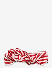 Becksöndergaard - Striped Hairband - haar accessoires - fiery red - 1