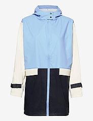 Becksöndergaard - Block Rubia Raincoat - regnjakker - blue - 0