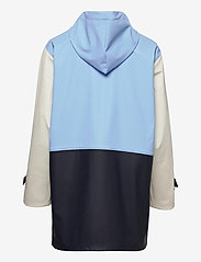Becksöndergaard - Block Rubia Raincoat - regnjakker - blue - 1