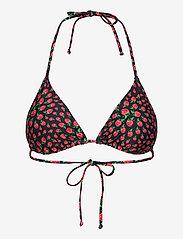 Becksöndergaard - Raspy Bikini Top - bikinitopper - black - 1
