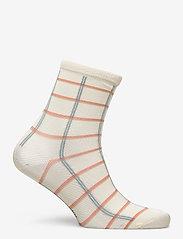Becksöndergaard - Square Rainbird Sock - sokker - cloud dancer - 1