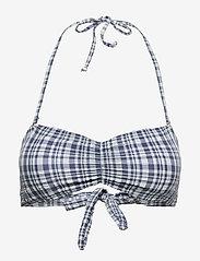 Becksöndergaard - Eli Bandeau Bikini Top - bikinitopper - blue shadow - 0