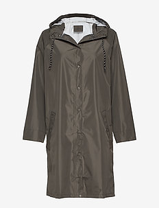 Solid Magpie Raincoat - ARMY GREEN