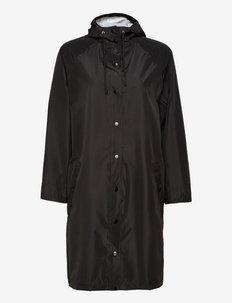 Solid Magpie Raincoat - manteaux de pluie - black